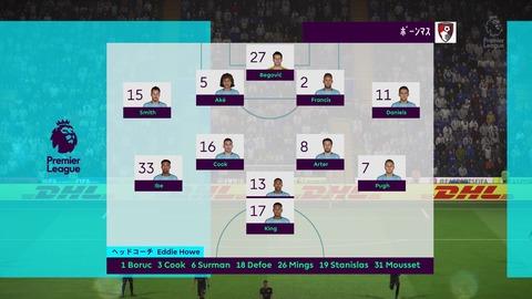 FIFA 18 キャリアモードの試合 0-0 LEI V BOU, 前半