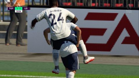FIFA 18 キャリアモードの試合 1-1 TOT V LEI, 前半