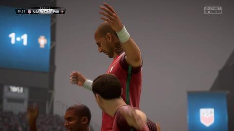 FIFA 18 キャリアモードの試合 1-1 USA V POR, 後半