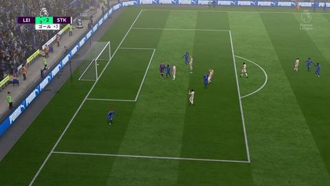 FIFA 18 キャリアモードの試合 3-2 LEI V STK, 後半