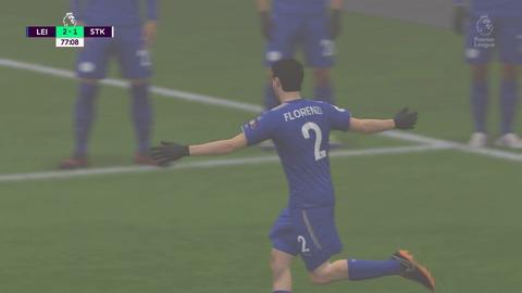 FIFA 18 キャリアモードの試合 2-1 LEI V STK, 後半