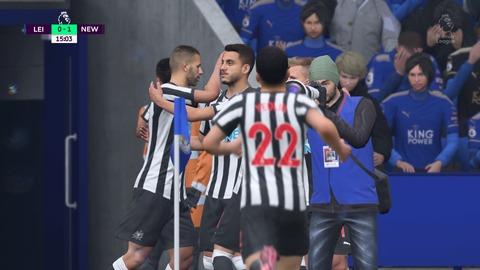 FIFA 18 キャリアモードの試合 0-1 LEI V NEW, 前半