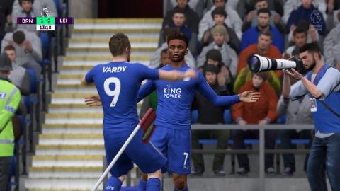 FIFA 18 キャリアモードの試合 1-2 BRN V LEI, 前半