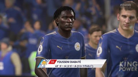 FIFA 18 キャリアモードの試合 2-0 LEI V NEW, 前半_3