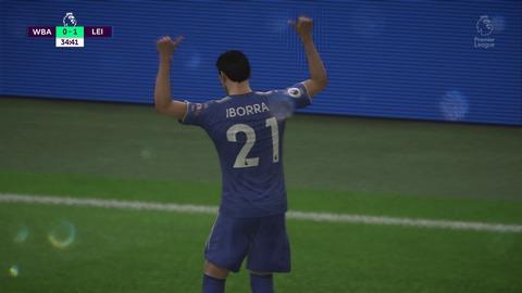 FIFA 18 キャリアモードの試合 0-1 WBA V LEI, 前半