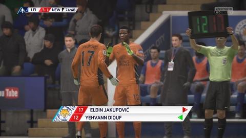 FIFA 18 キャリアモードの試合 3-1 LEI V NEW, 後半_7