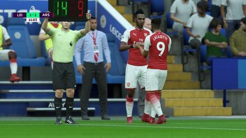 FIFA 18 キャリアモードの試合 1-1 LEI V ARS, 後半
