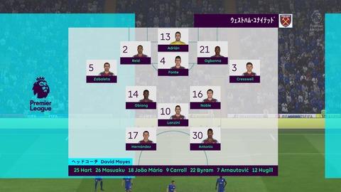 FIFA 18 キャリアモードの試合 0-0 LEI V WHU, 前半_1