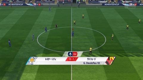 FIFA 18 キャリアモードの試合 0-1 LEI V WAT, 前半_1
