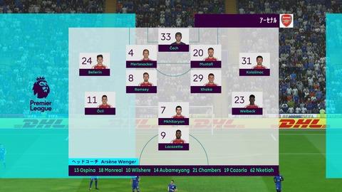 FIFA 18 キャリアモードの試合 0-0 LEI V ARS, 前半