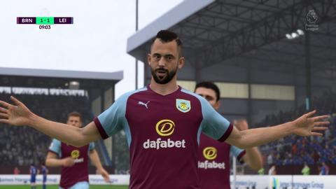 FIFA 18 キャリアモードの試合 1-1 BRN V LEI, 前半