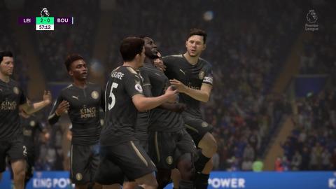 FIFA 18 キャリアモードの試合 2-0 LEI V BOU, 後半