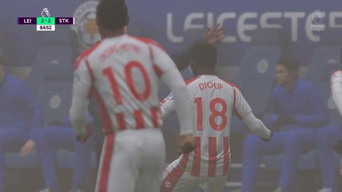 FIFA 18 キャリアモードの試合 2-2 LEI V STK, 後半_1