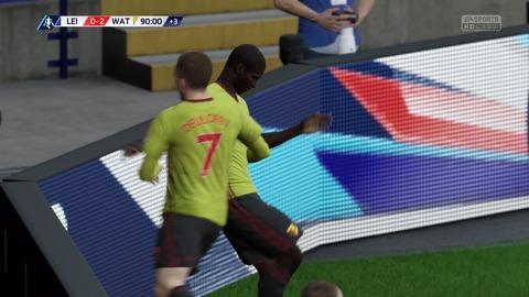 FIFA 18 キャリアモードの試合 0-2 LEI V WAT, 後半