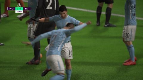 FIFA 18 キャリアモードの試合 1-0 MCI V LEI, 前半_2