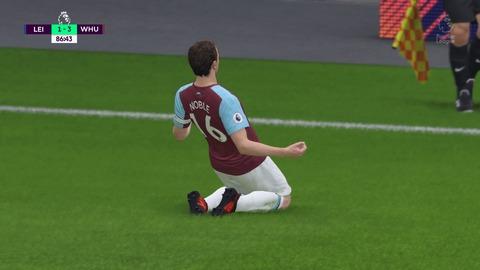 FIFA 18 キャリアモードの試合 1-3 LEI V WHU, 後半