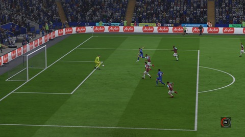 FIFA 18 キャリアモードの試合 1-2 LEI V WHU, 後半