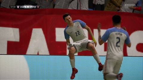 FIFA 18 キャリアモードの試合 1-0 USA V POR, 後半