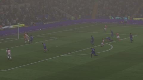 FIFA 18 キャリアモードの試合 1-1 LEI V STK, 前半