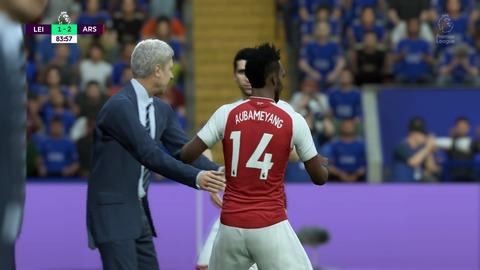 FIFA 18 キャリアモードの試合 1-2 LEI V ARS, 後半