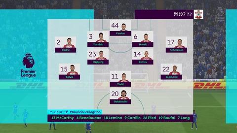 FIFA 18 キャリアモードの試合 0-0 LEI V SOU, 前半_1