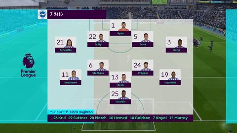 FIFA 18 キャリアモードの試合 0-0 BHA V LEI, 前半
