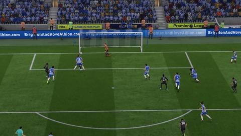 FIFA 18 キャリアモードの試合 0-1 BHA V LEI, 前半_1